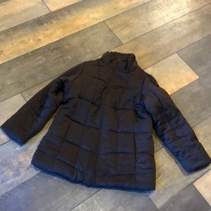 Style CO Brown Long Puffer Winter Coat Poly 16W
